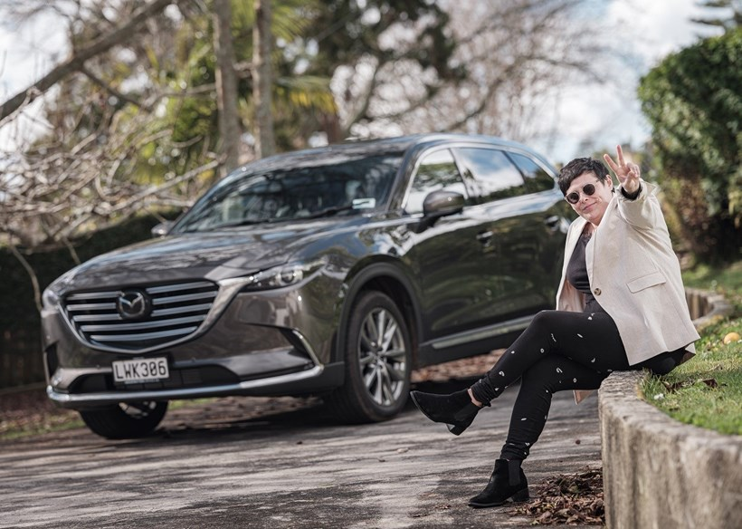 Anika Moa and her Mazda CX-9. Photos / Ted Baghurst