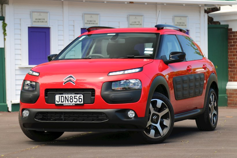 Citroen C4 Cactus'  avant-garde styling includes large airbump trims. Photo / Damien O'Carroll