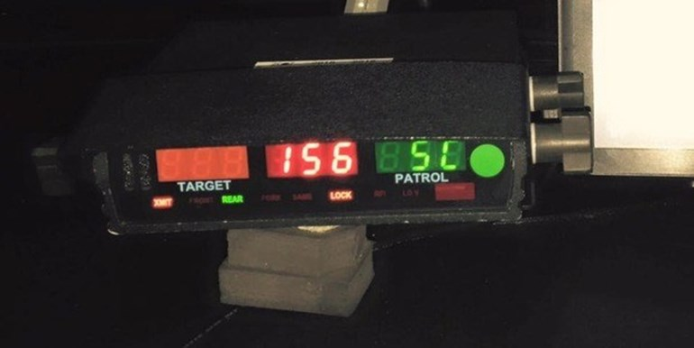 Police officers clocked the car travelling at 156 km/h on State Highway 3. Photo / sourced