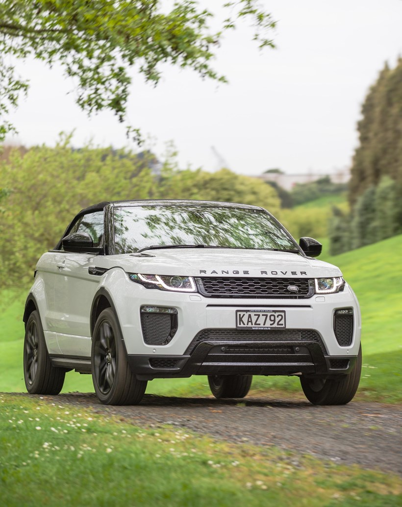 Best of both worlds: Range Rover Evoque Convertible.  Pictures/ Ted Baghurst