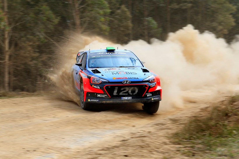 Hayden Paddon in practise for the 2016 WRC Rally Australia. Picture/ Greg Henderson Photo.