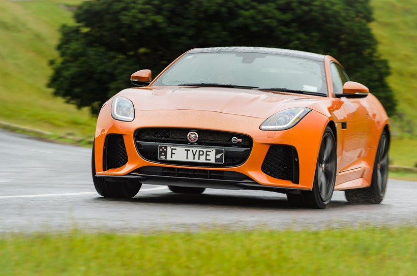 The Jaguar F-Type SVR sports coupe. Pictures/ Ted Baghurst
