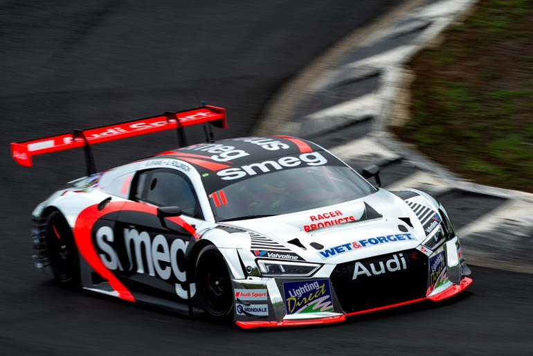 The Smeg Racing Audi R8 LMS, driven this weekend by Simon Evans and Gene Rollinson. Photo / Matthew Hansen