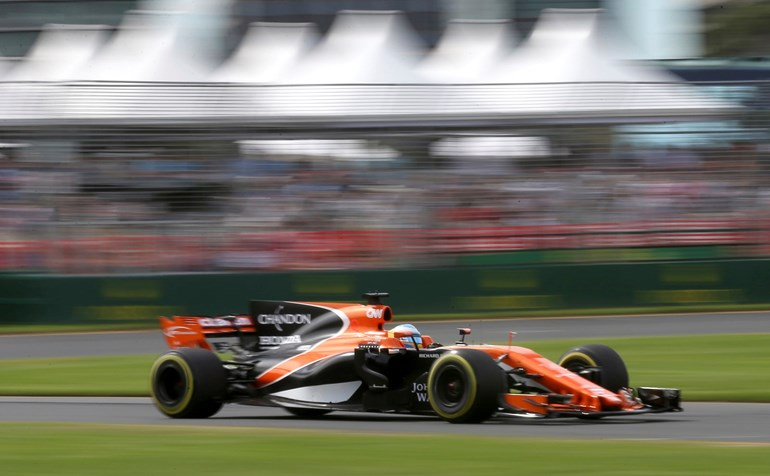Alonso will trade his F1 McLaren Honda for a Indycar in May. Photos / AP