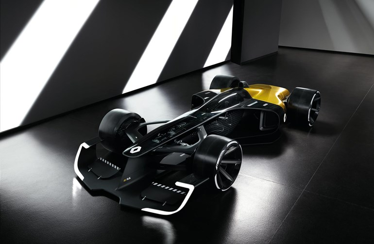 Renault celebrate the 40th anniversary of their first F1 race with 2027 concept. Photos / Renault