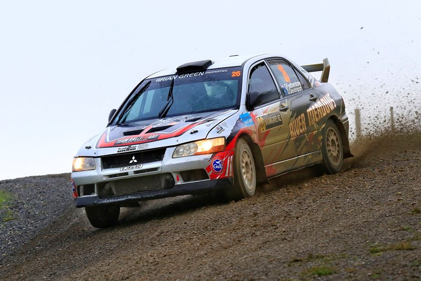 Graham Featherstone leads the NZ Rally Championship after two rounds. Photo / Greg Henderson