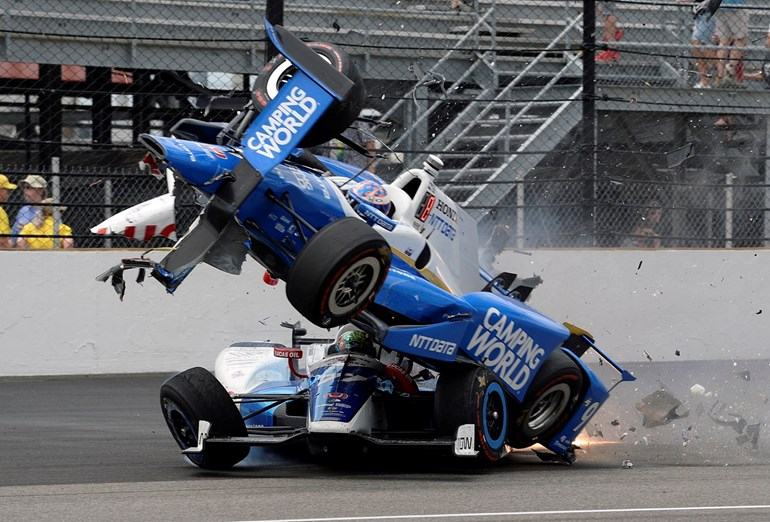 Dixon is still suffering from foot injuries sustained in his Indy 500 crash. Photo / AP