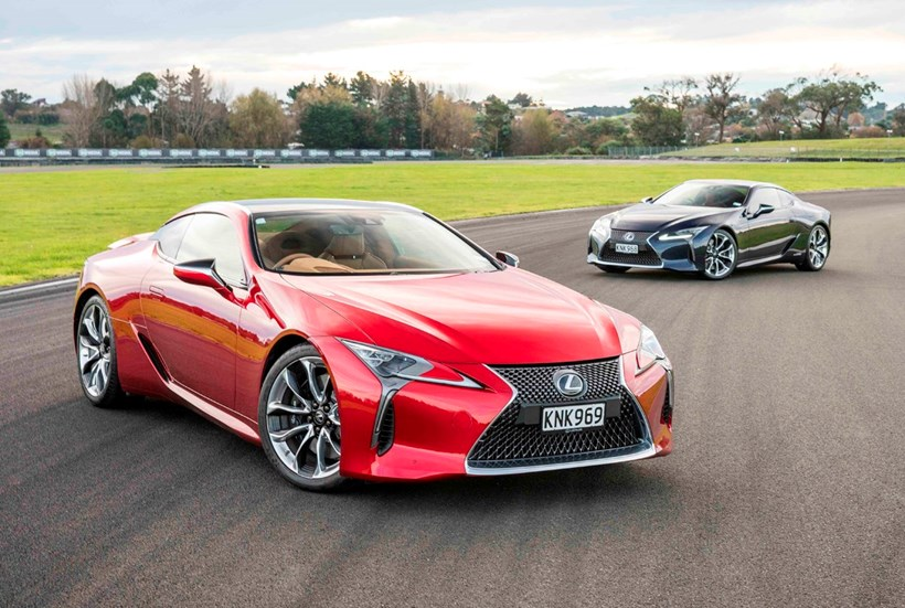 The Lexus LC 500h and LC 500 leave convention behind for dust. Photos / Colin Smith,Supplied