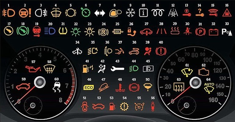 Complete guide to the 64 warning lights on your dashboard