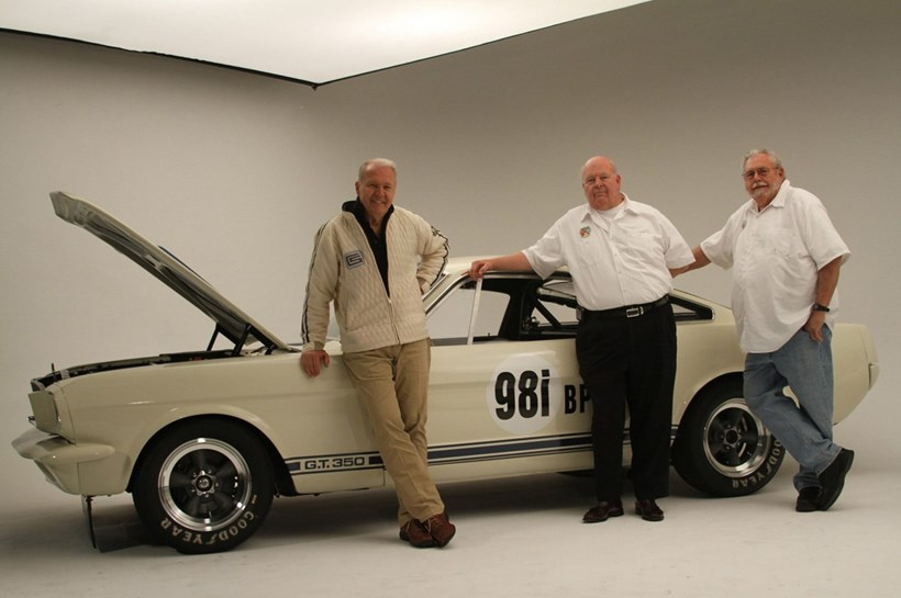 The Original Venice Crew who will build the 1965 Shelby GT350R, (left to right) Peter Brock, Jim Marietta, and Ted Sutton. Photos / Supplied