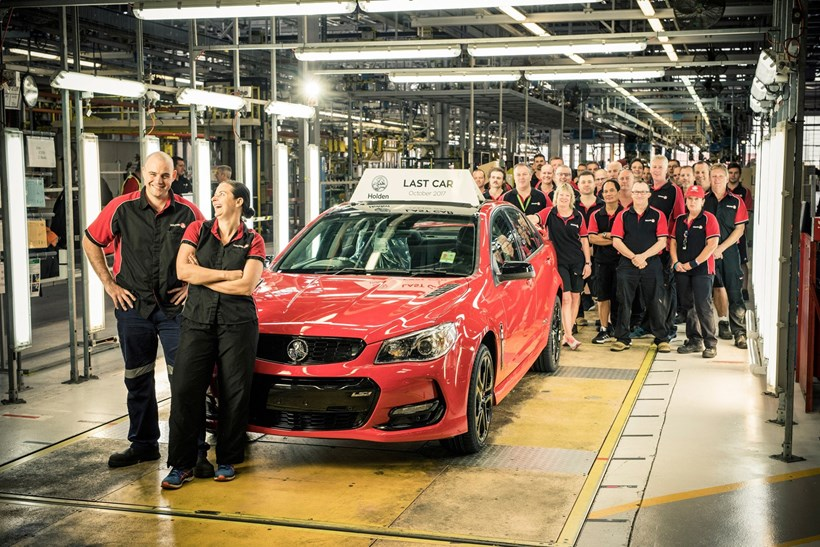 The last Holden to roll off the line, a red Redline VF Commodore. Photos / Holden Australia, Supplied