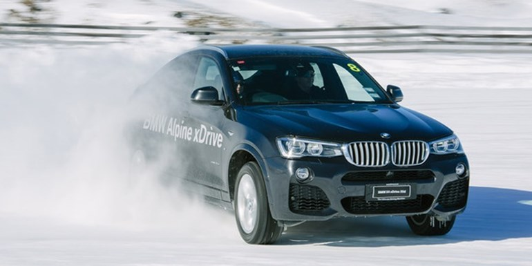 BMW's X4 35d was ideal for the drive from Queenstown to Glenorchy. The day before the X4 was in action at Wanaka's Southern Hemisphere Proving Ground. Picture / Simon Darby / bmwalpinexdrive.co.nz