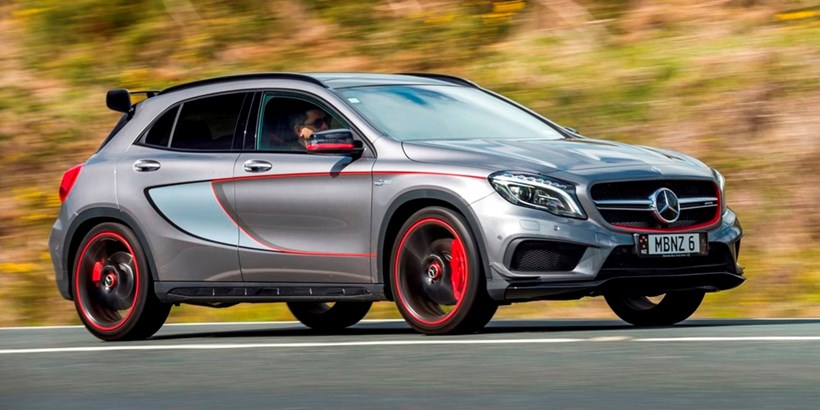 The red-trimmed wheels and sporty interior will get the GLA 45 noticed. Pictures / Ted Baghurst