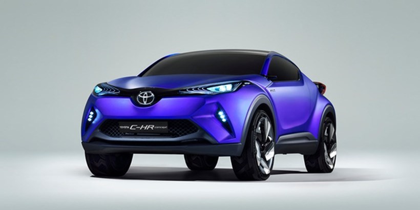 The Toyota C-HR concept will be revealed in the flesh at the Paris motor show.