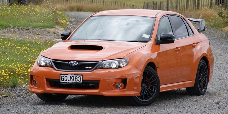 You can't miss Subaru's Crouching Tiger WRX because it's very orange. It's also very rare, with just 10 examples going on sale. Photo / David Linklater