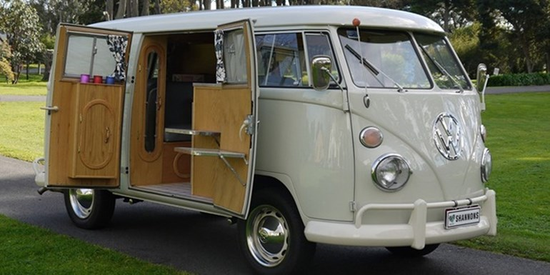 This fully-restored Californian built 1966 VW Kombi Camper is expected to sell in the $62,000-$72,000 range at Shannons Melbourne Spring auction on September 29.