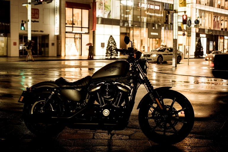 Harley-Davidson launched the Dark Custom range of Iron 883 (above), Street 750, and Forty-Eight in Tokyo.