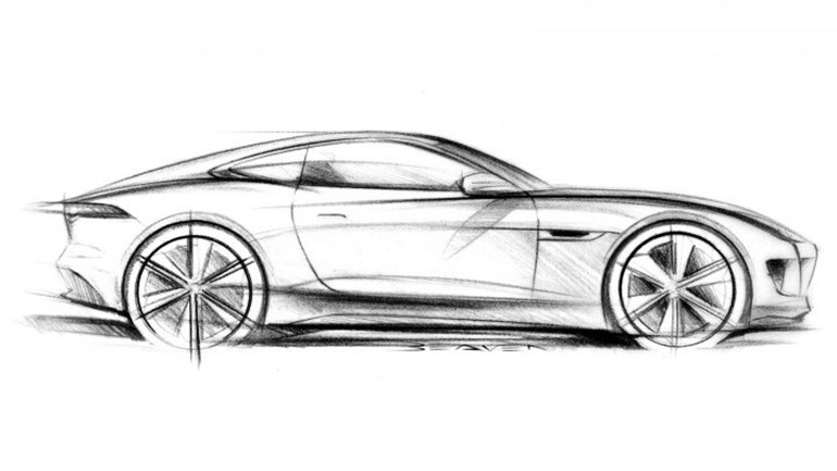 An illustration of the Jaguar C-X16 concept, which became the F-Type. Image / Sourced