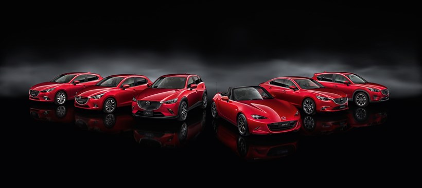 Mazda's range of vehicles. Photo / Mazda