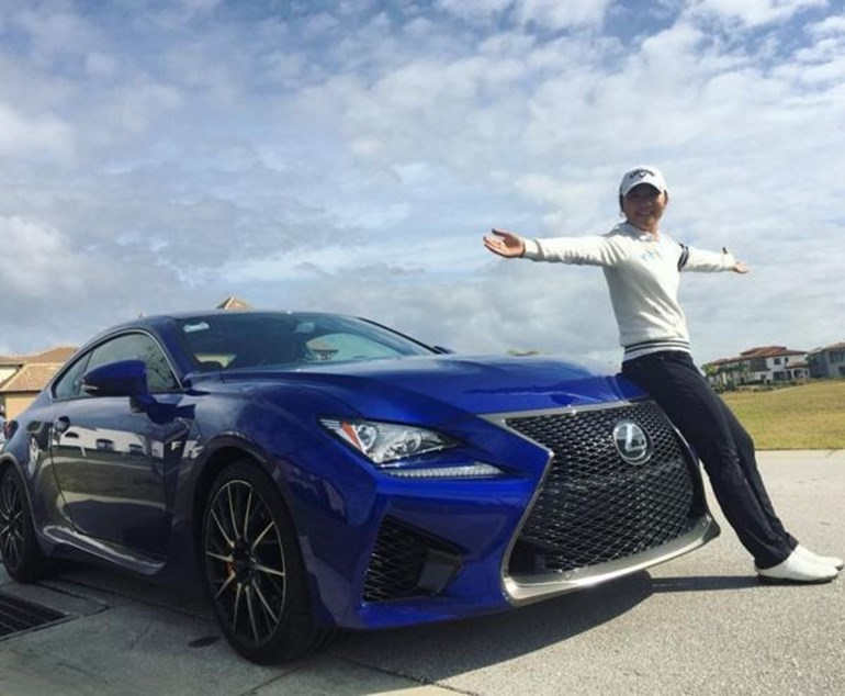 Lydia Ko is now the proud owner of a Lexus RC F. Photo / Instagram