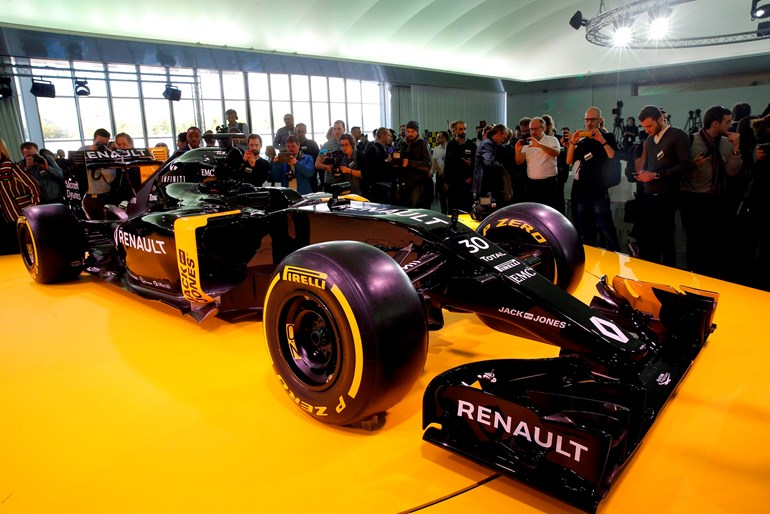 The Renault R.S.16 at  Renault's technocentre in Guyancourt, west of Paris. Picture / AP