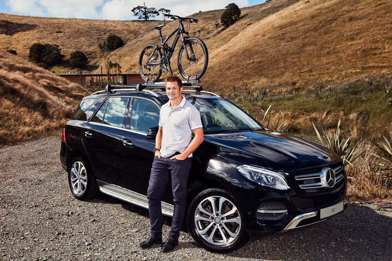 Richie McCaw and his Mercedes-Benz GLE 350 d. Picture/Supplied.