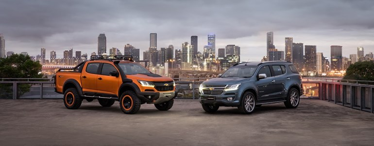 Chevrolet Colorado Xtreme (left) and Trailblazer Premier were revealed at the Bangkok motor show.