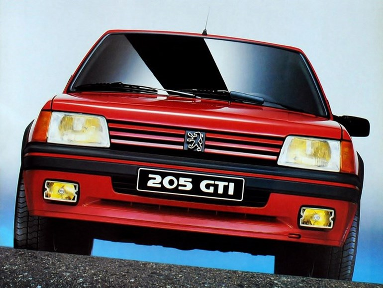 The Peugeot 205 GTI is now a sought-after car selling for high prices at auction.Pictures / Supplied