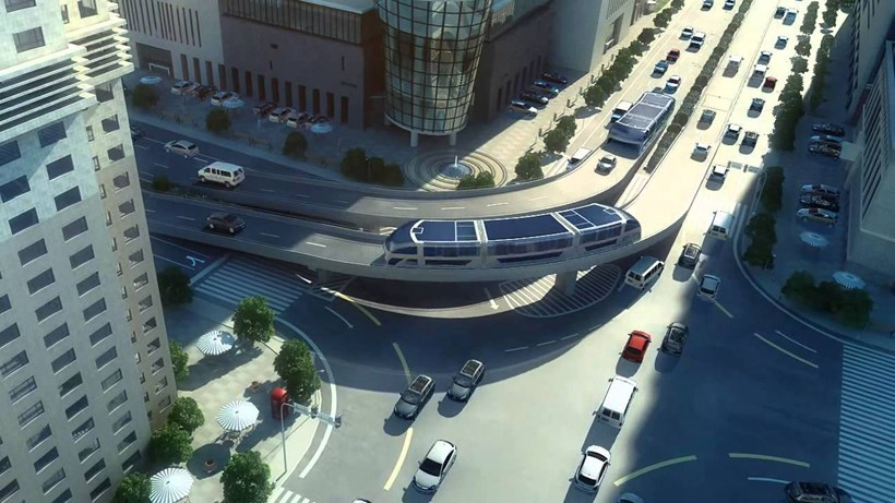 China's proposed  Transit Elevated Bus.  Picture/Supplied