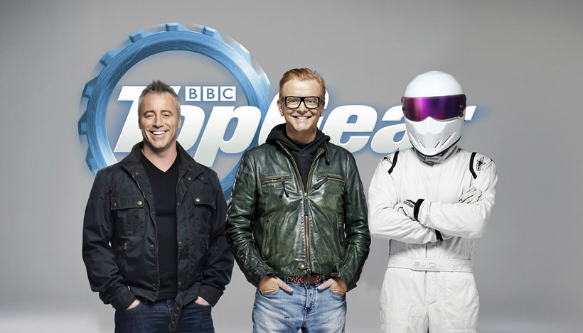 Top Gear's Matt LeBlanc and Chris Evans, with The Stig.