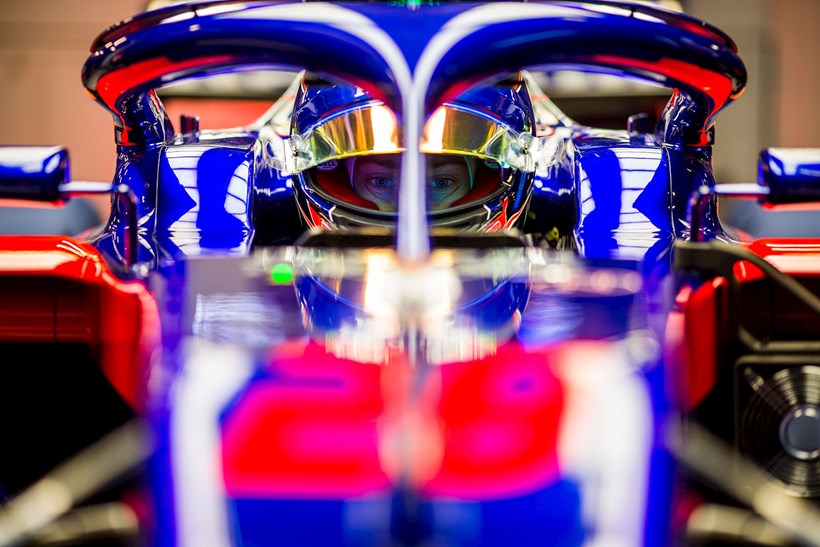 Brendon Hartley during day one of F1 Winter Testing at Circuit de Catalunya. Photo / Getty Images