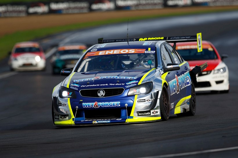 Simon Evans and Chris Hanley's Holden VF Commodore, which has been provisionally awarded victory. Photos / Simon Chapman