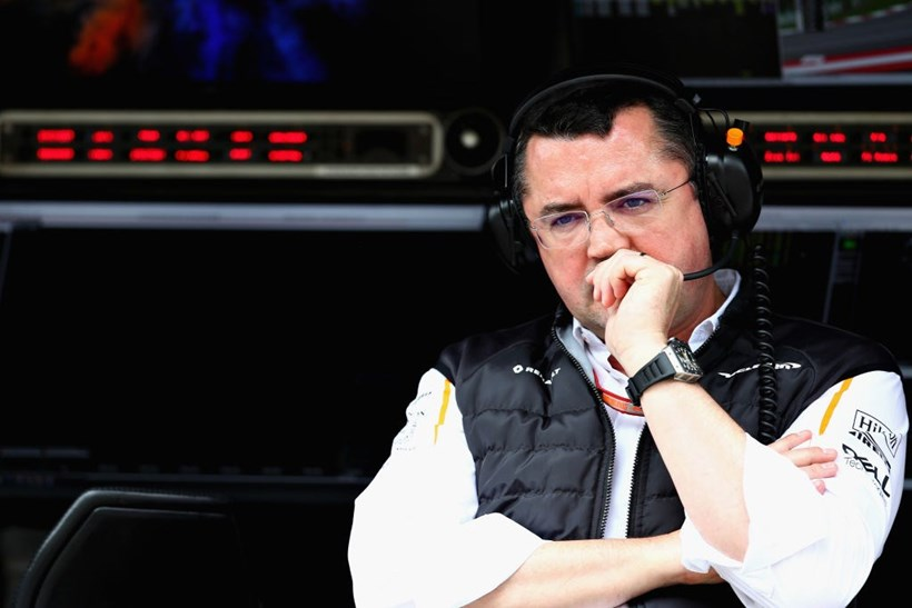 McLaren Racing Director Eric Boullier looks on from the pit wall during practice for the Formula One Grand Prix of Austria. Photo / Getty Images