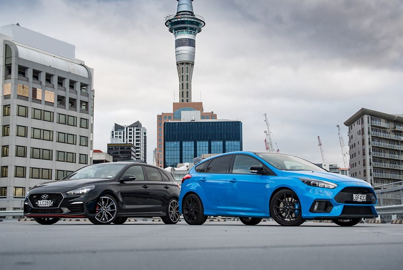 Hot hatch battle: Ford Focus RS Limted versus Hyundai i30 N